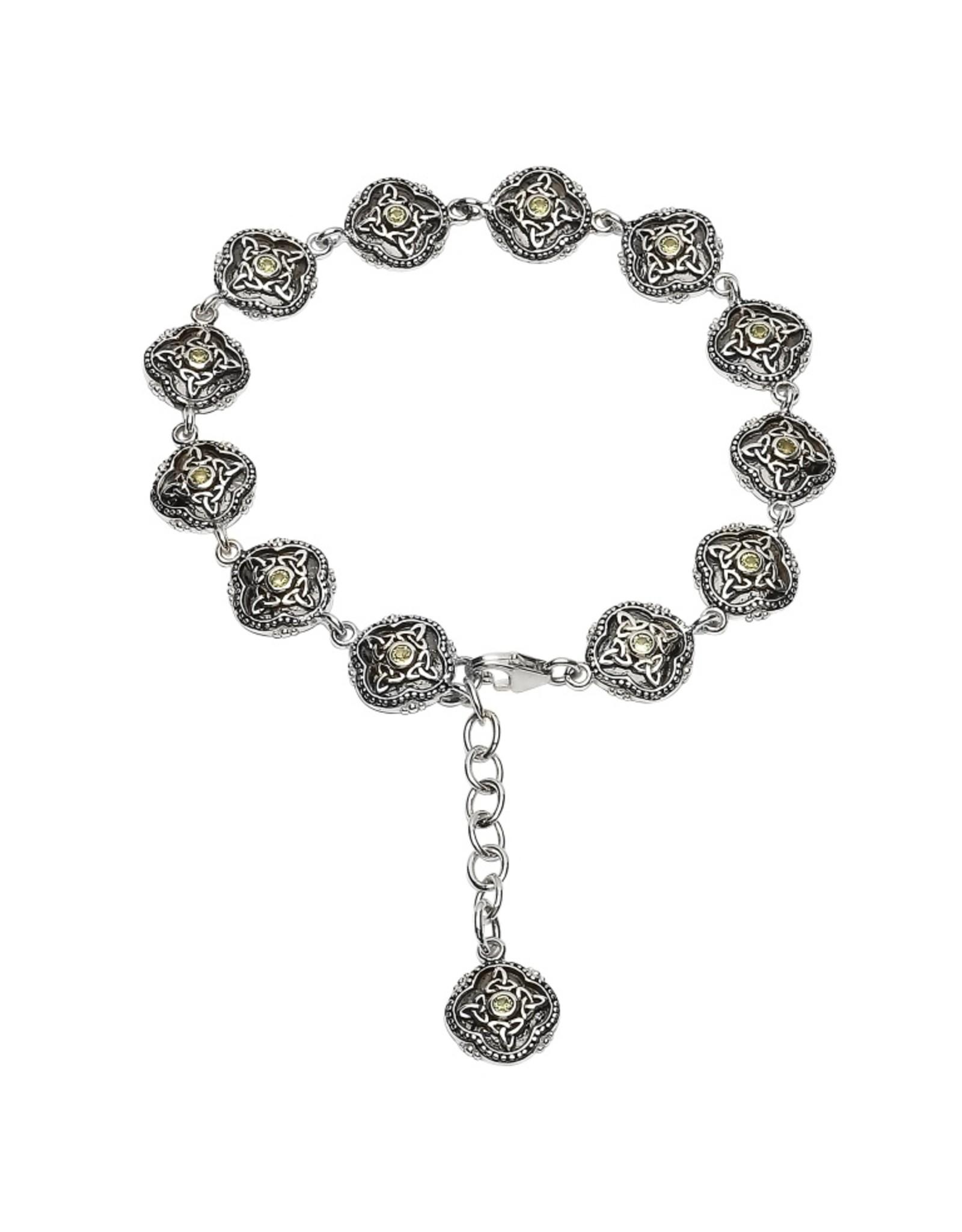 Shanore Celtic Trinity Peridot Tribal Bracelet