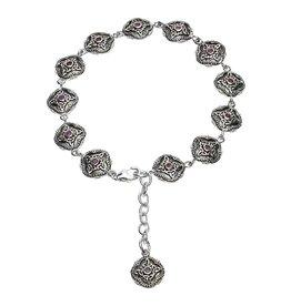 Shanore Celtic Trinity Amethyst Tribal Bracelet