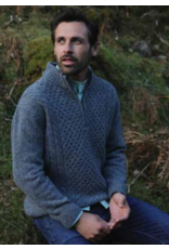 Aran Woollen Mills Luxury Donegal Zip Sweater