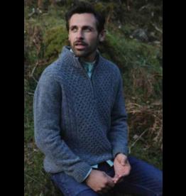 Aran Woollen Mills Luxury Donegal Zip Sweater