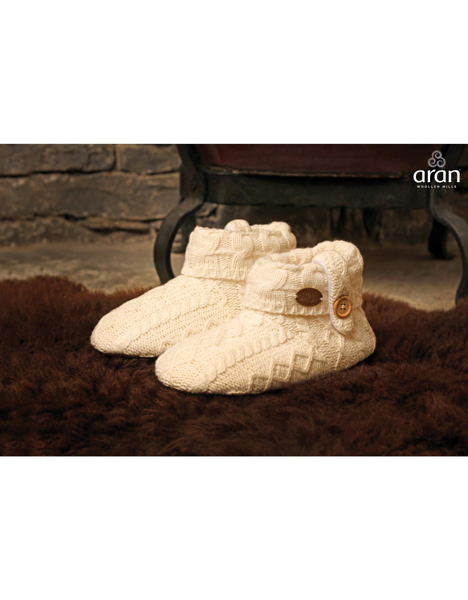 Aran Woollen Mills Children's Aran Slippers