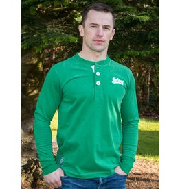 Retro Irish Ireland Green Henley Shirt