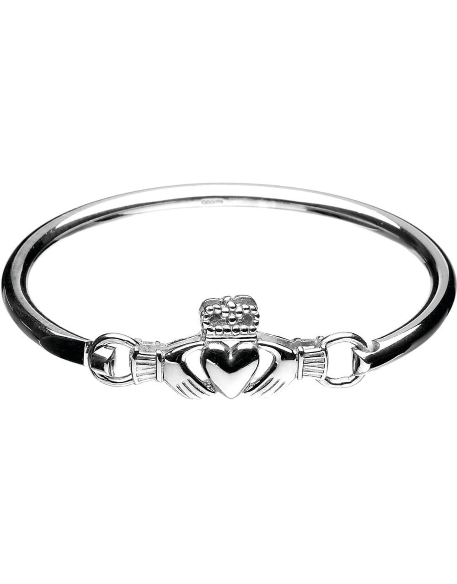 Boru Jewelry Sterling Silver Claddagh Bangle