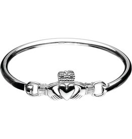 Boru Jewelry Sterling Silver Claddagh Bangle