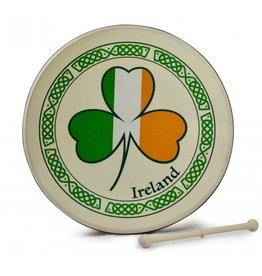 Waltons Beginner 8'' Bodhran - Tri-color Shamrock