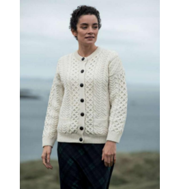 Aran Woollen Mills Ladies Aran Cardigan with Pockets