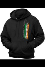Coastal Tees Irish American Flag Black Hoodie