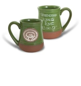 Abbey Press Claddagh Green Pottery Mug