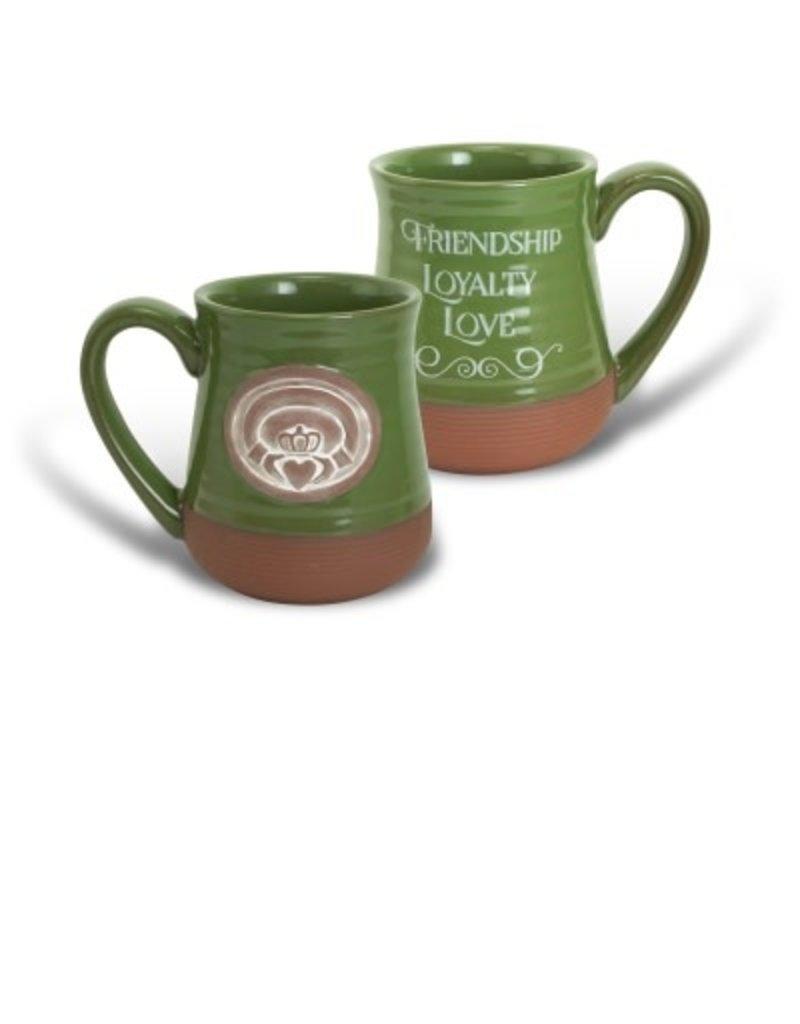 Abbey Press Claddagh Green Pottery Mug