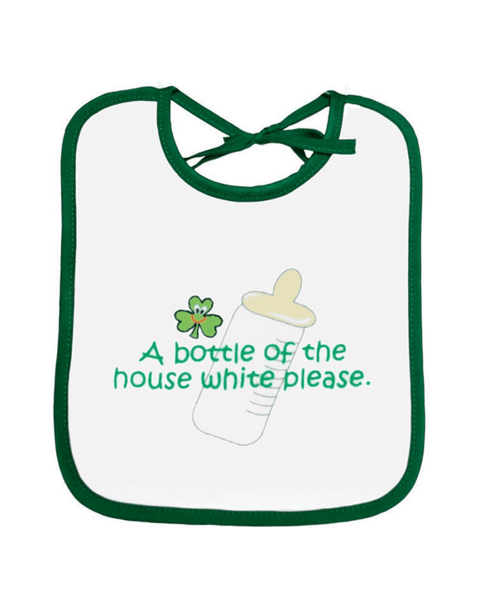 A Bottle of the House White Bib
