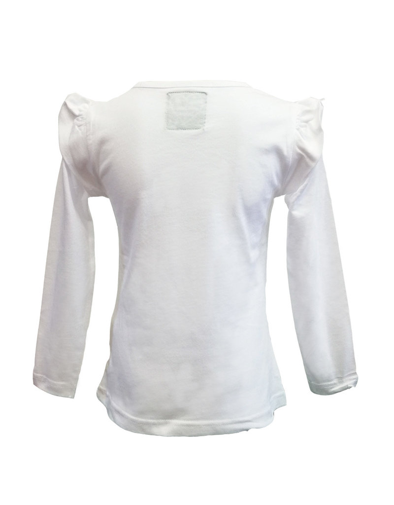 Girls Sequin Shamrock Long Sleeve Shirt