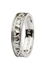 Shanore Gents Silver Claddagh Celtic Wedding Band