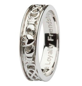 Shanore Gents Silver Claddagh Celtic Ring