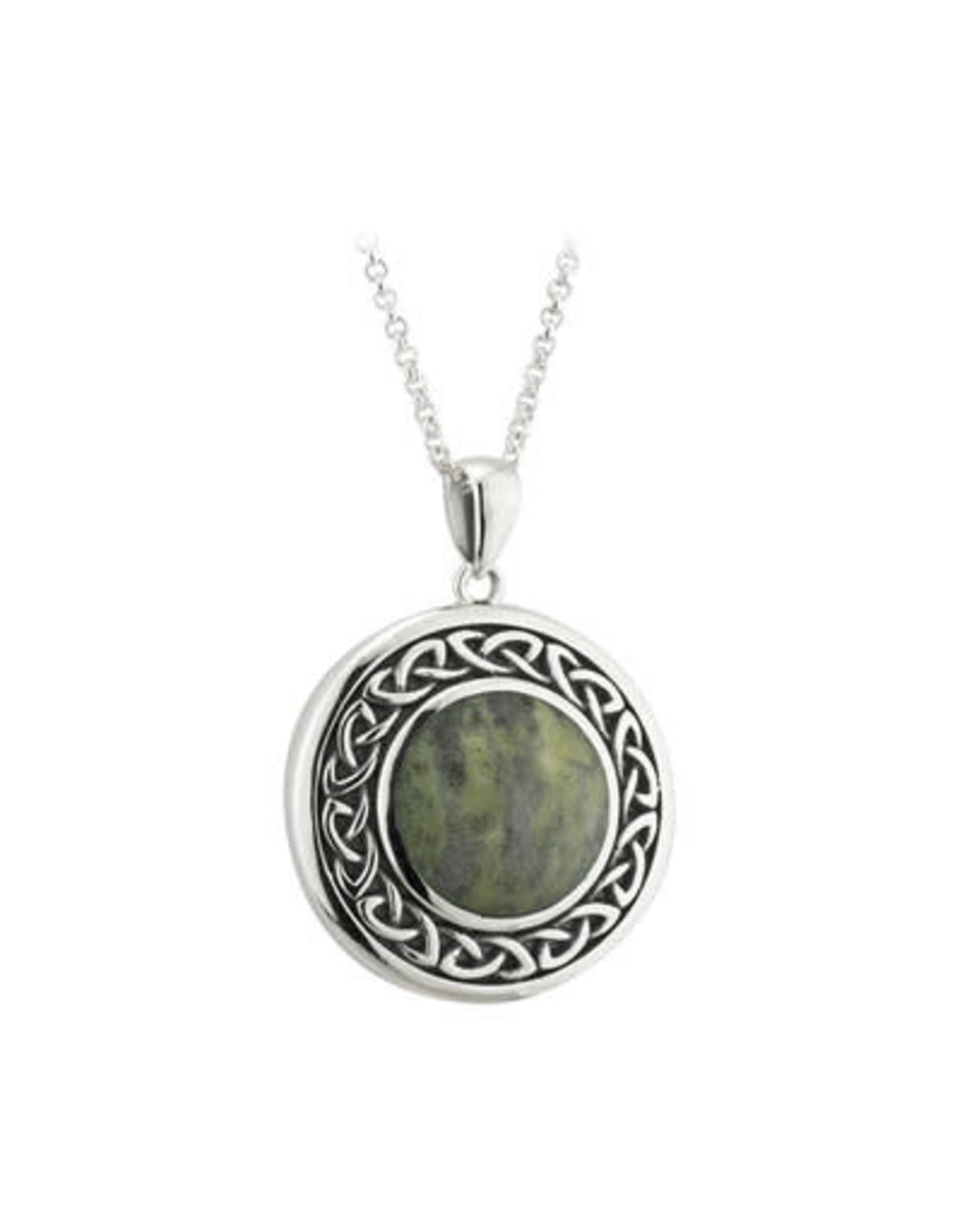Solvar Round Connemara Marble Celtic Necklace