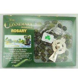JC Walsh Connemara Marble Rosary Beads: Oval