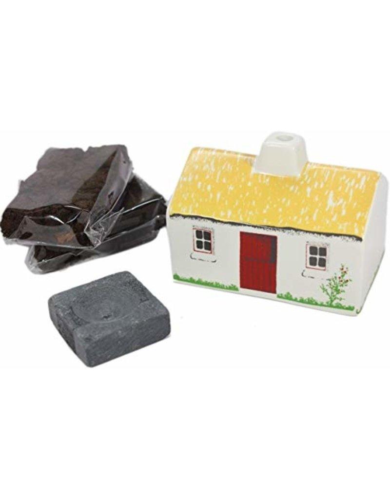 The Turf Peat Incense Co. Irish Cottage Turf Burner Set