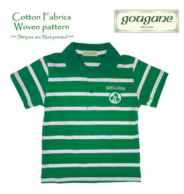 Gougane Ireland + Shamrocks Short Sleeve Striped Polo