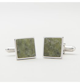 JC Walsh Connemara Marble Cufflinks:  Square