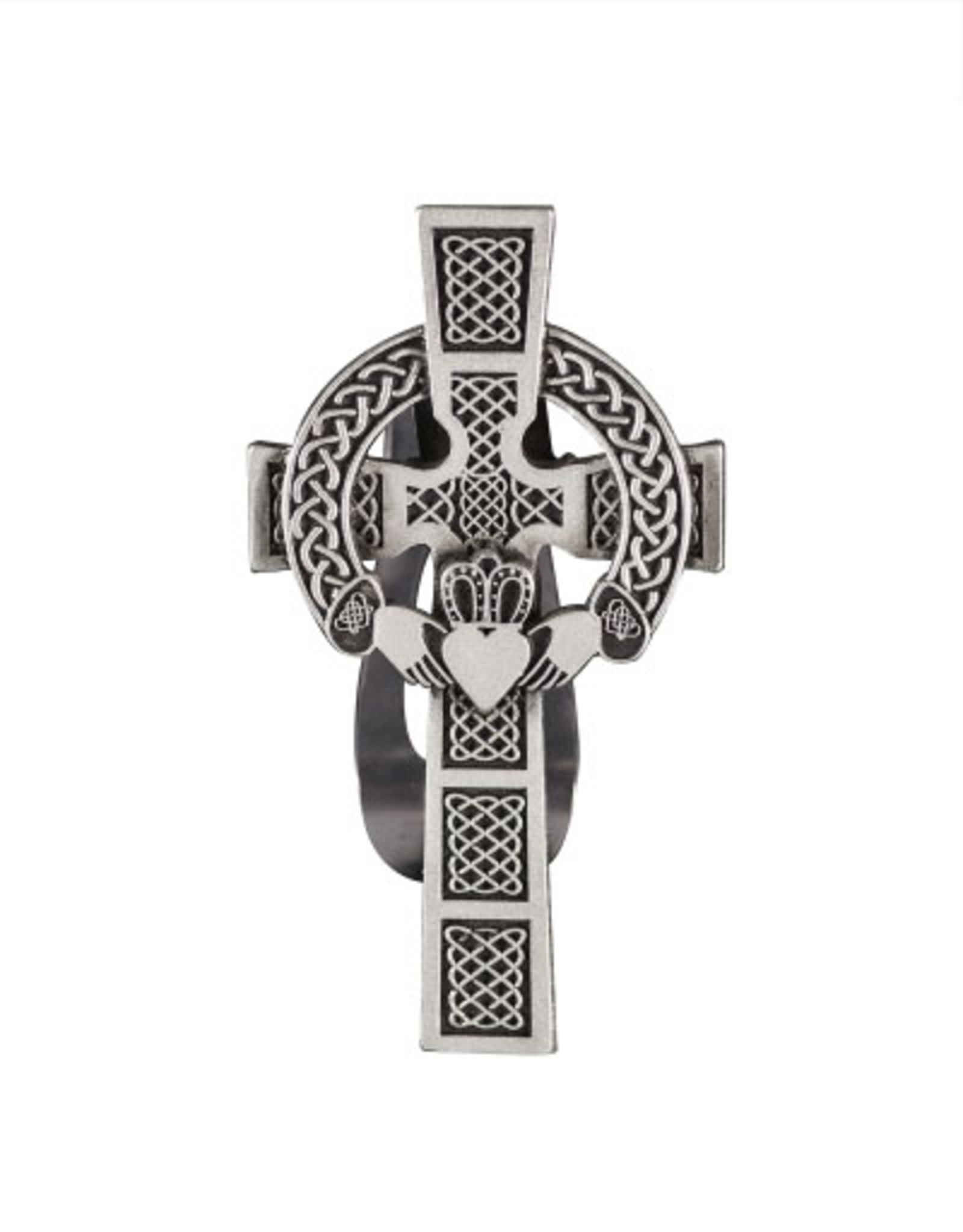 Cathedral Art Visor Clip:  Claddagh Cross
