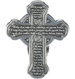 Cathedral Art Visor Clip:  Celtic Cross Irish Blessing