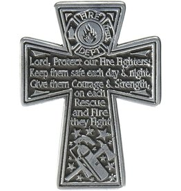 Cathedral Art Protect Firefighters Cross Visor Clip