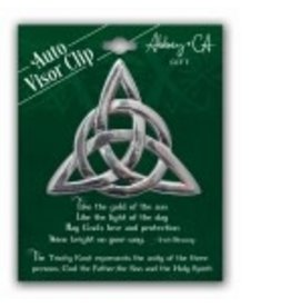 Cathedral Art Visor Clip:  Trinity Knot