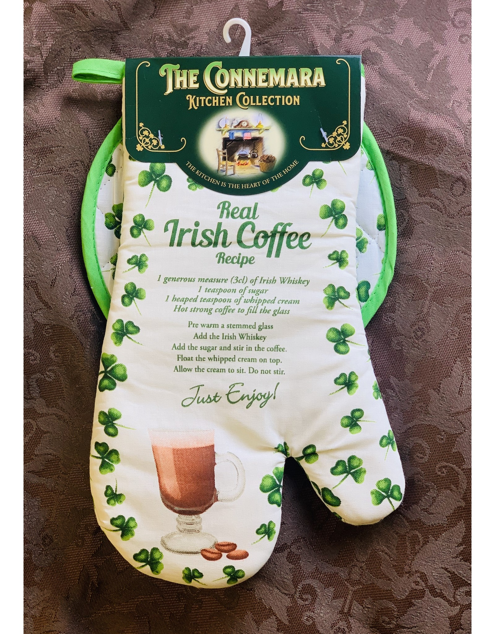 JC Walsh Pot Holder & Mitt: Irish Coffee