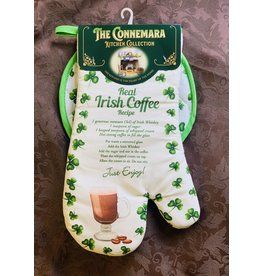 JC Walsh Pot Holder & Mitt: Irish Coffee