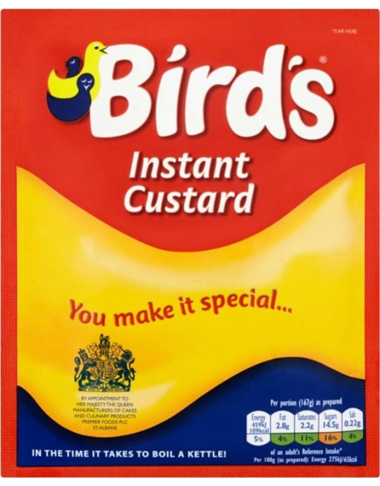 Birds Birds Instant Custard 75g Packet