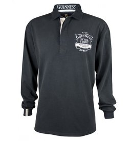 Guinness Classic Black Washed Guinness Rugby Jersey