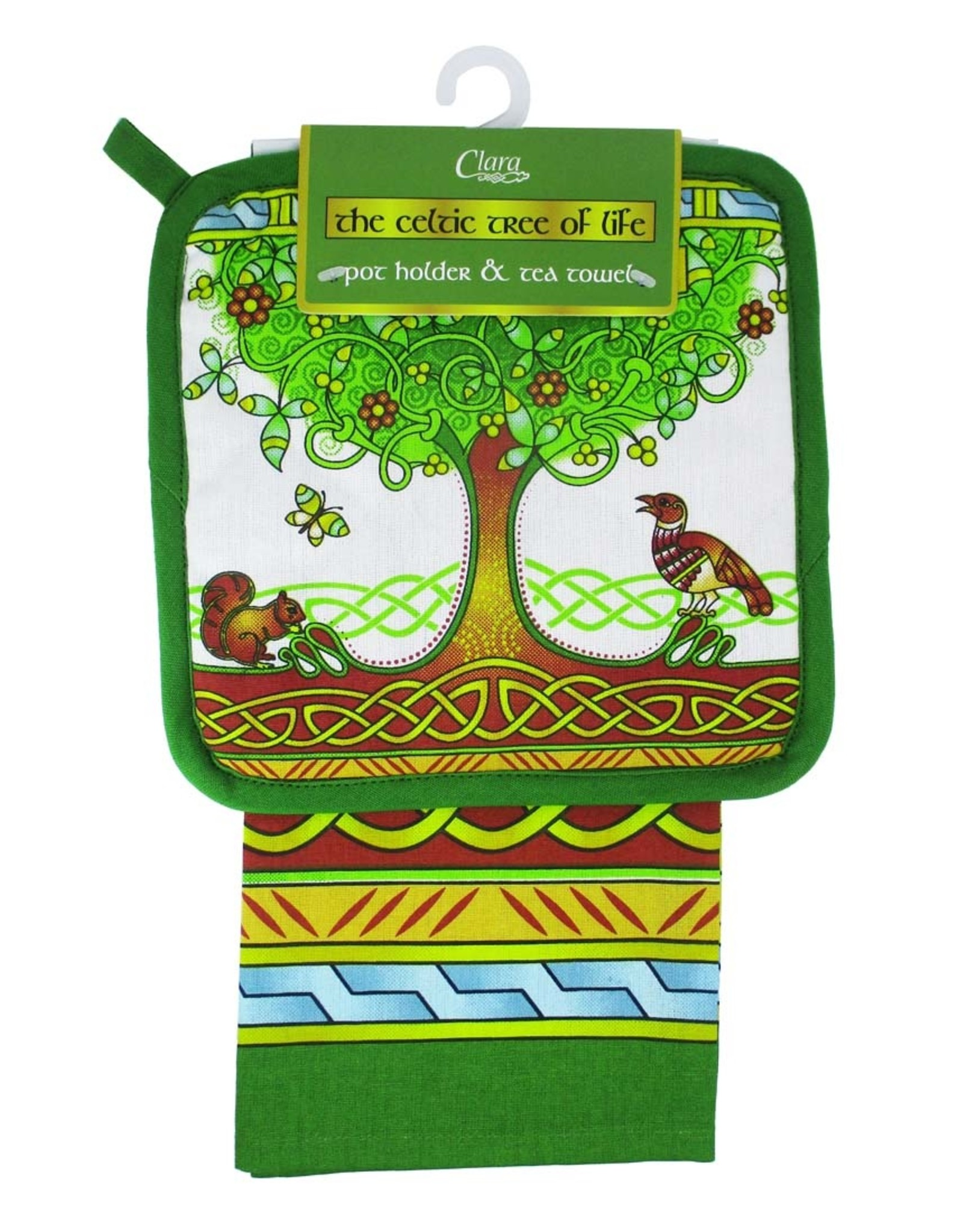 Royal Tara Tree of Life Pot Holder & Tea Towel