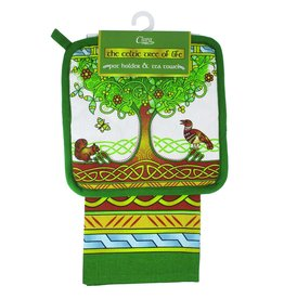 Royal Tara Tree of Life Pot Holder & Tea Towel