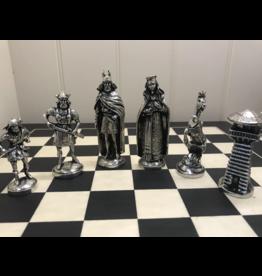 Mullingar Pewter Viking Chess Set with Board by Mullingar Pewter