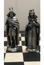 Mullingar Pewter Viking Chess Set with Board by Mullingar Pewter