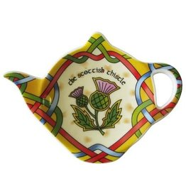 Royal Tara Scottish Thistle Teabag Holder Celtic Window