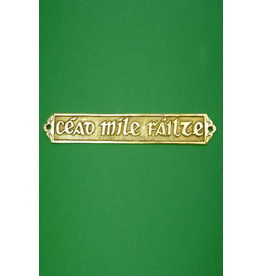 Liffey Artefacts Cead Mile Failte Brass Wall Plaque - Large