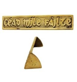 Liffey Artefacts Cead Mile Failte Brass Desk Plaque