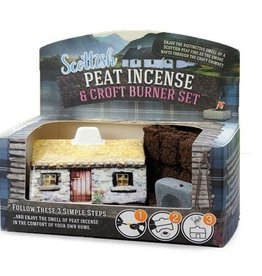 The Turf Peat Incense Co. Scottish Cottage Peat Burner Set