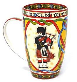 Royal Tara Scottish Bagpiper China Mug