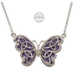 Shanore Butterfly Necklace Embellished With Swarovski Crystals