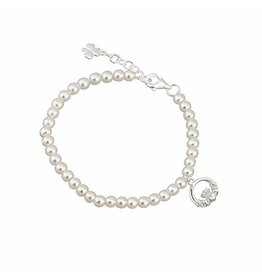 Solvar Little Tara Child's Pearl Bracelet with Claddagh
