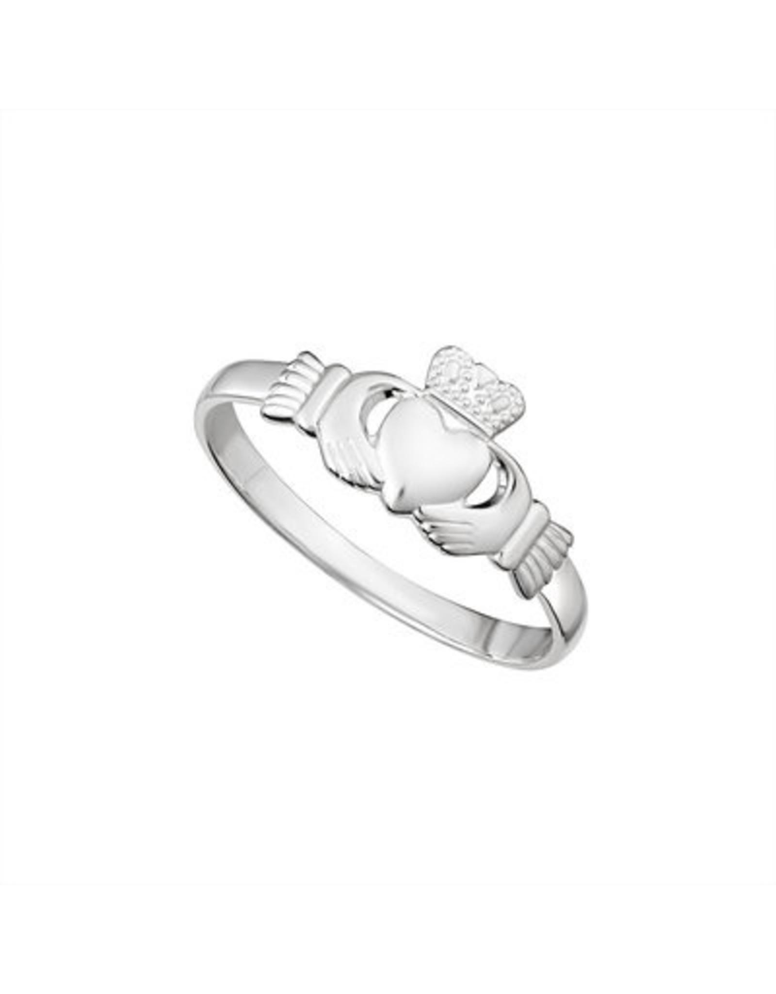 Solvar Light Sterling Silver Claddagh Ring