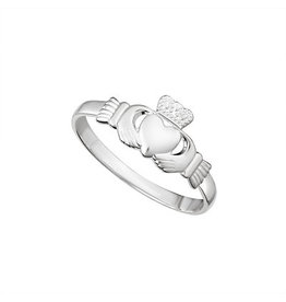 Solvar Light Sterling Silver Claddagh Ring