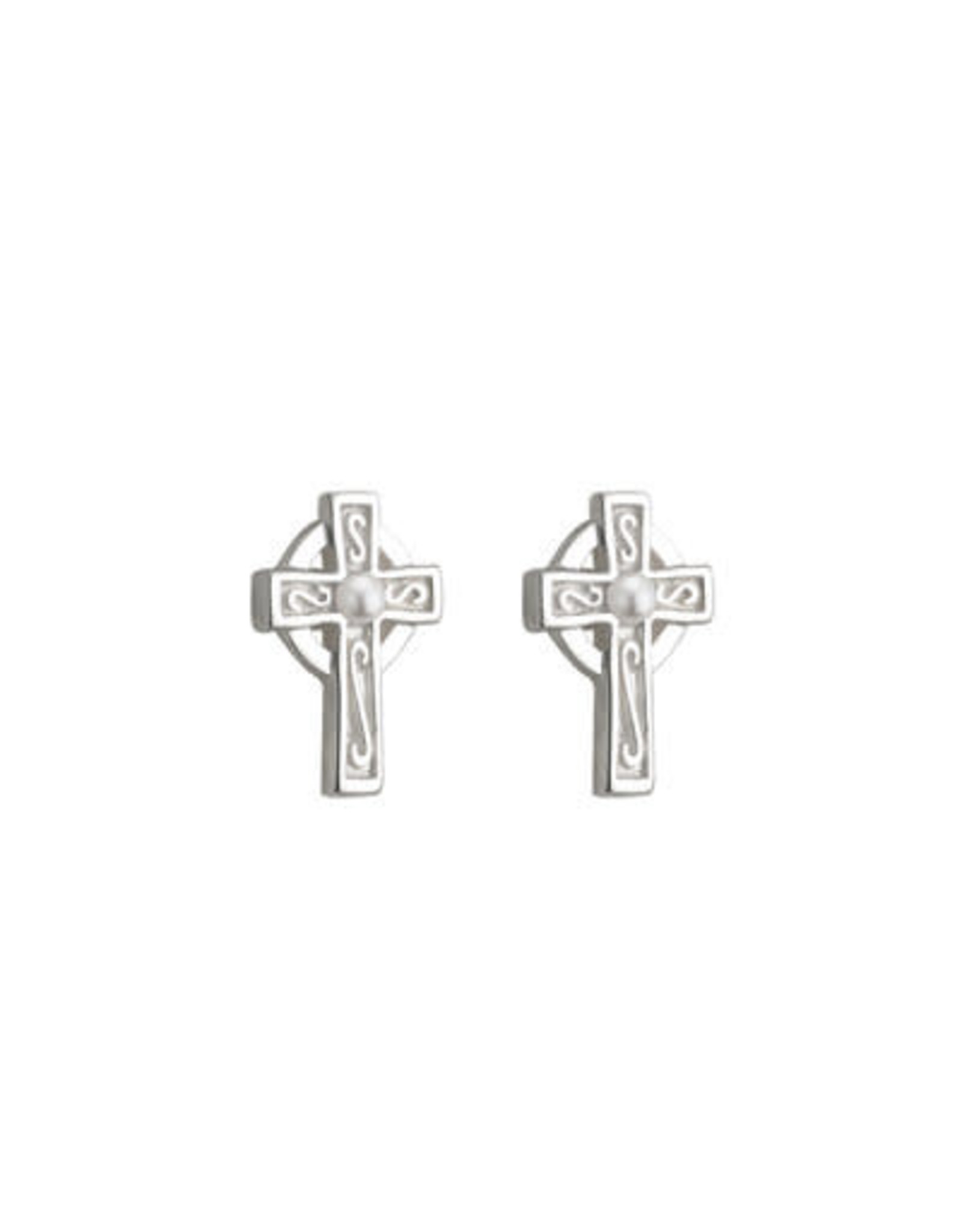 Solvar Little Tara Cross with Pearl Earring