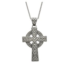 Shanore Sterling Silver Large Celtic Cross Intricate