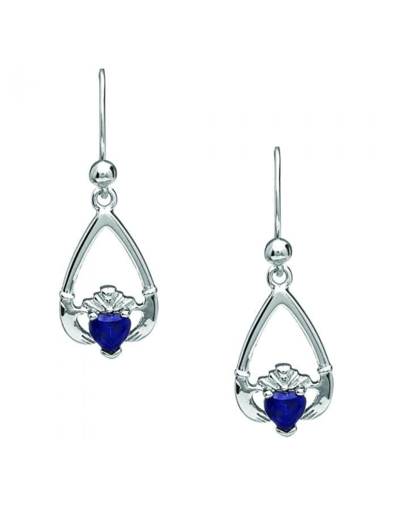 Boru Jewelry Birthstone Claddagh Earrings for Each Month