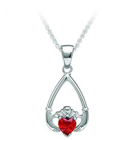 Boru Jewelry Birthstone Claddagh Pendant in Each Month