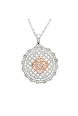 Shanore Irish Lace Rose Gold + Silver Celtic Knot Pendant