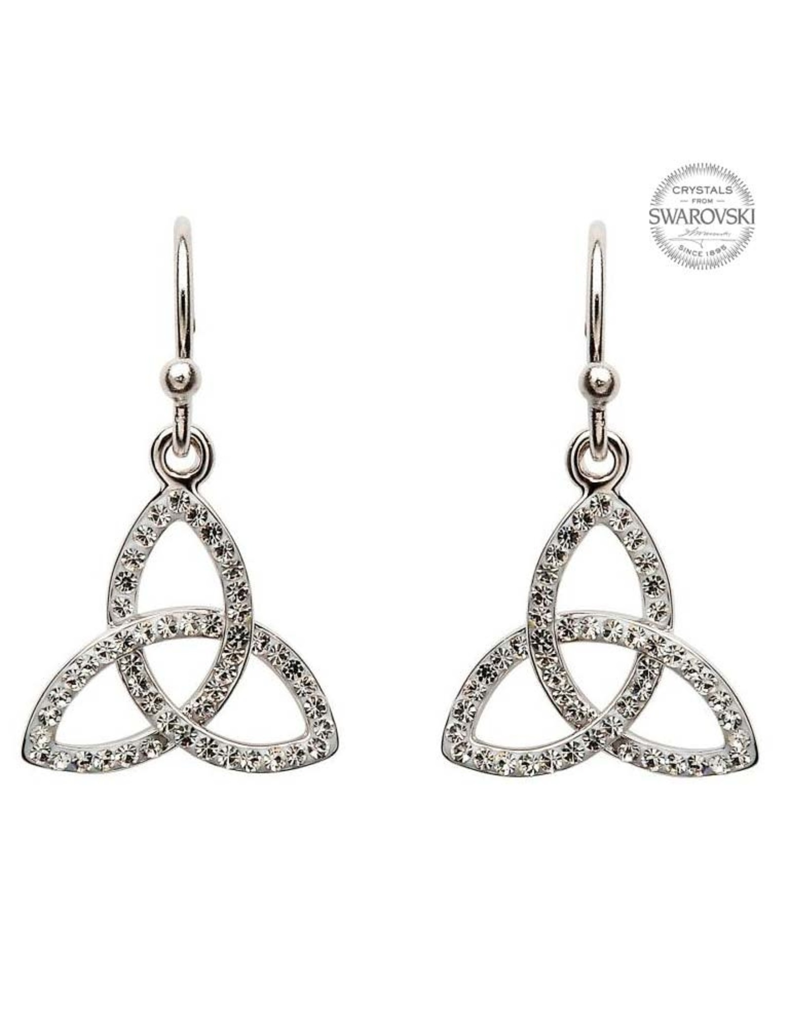 Shanore Trinity KnTrinity Knot Drop Earrings With Swarovski Crystalsot Drop Earrings With SW Crystals