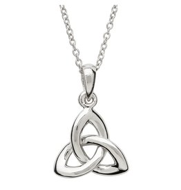 Shanore Sterling Silver Celtic Trinity Knot Necklace